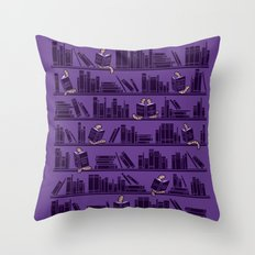 Bookworms Throw Pillow