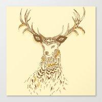 Tribal Deer Canvas Print