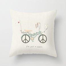 Peace & Love (Text Version) Throw Pillow