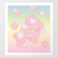 Square Bubble Art Print