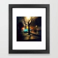Nebula Tree Framed Art Print