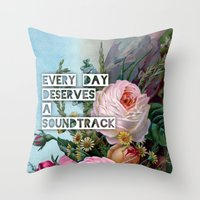 soundtrack Throw Pillow