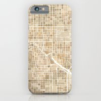 Tucson Arizona watercolor map iPhone 6 Slim Case
