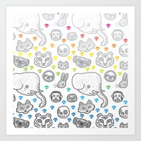 Hypno Animals Art Print