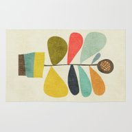 Rug featuring Potted Plant by Budi Kwan
