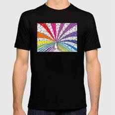 Rainbow-Peacock Mens Fitted Tee SMALL Black
