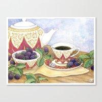 Blackberry Tea Canvas Print