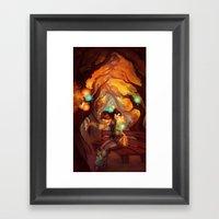 The Red Bench Framed Art Print