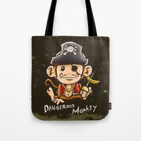 Dangerous Monkey! Tote Bag