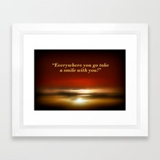 Smile :) Framed Art Print