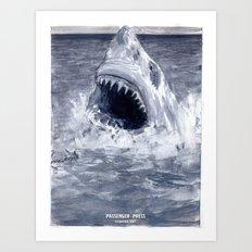 Shark Attacks! ( by Luca Conca for Passenger Press) Art Print