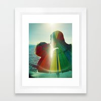 Lovers Kissing - They Ar… Framed Art Print