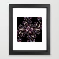 Feather flowers Framed Art Print