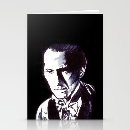 The Gentle Man of Horror Stationery Card