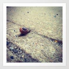 Snailing Around Art Print