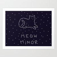 Cat Constellation (Meow … Art Print