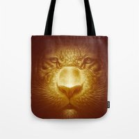 Gold Tiger Tote Bag