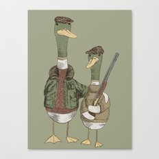 Hunting Ducks Canvas Print