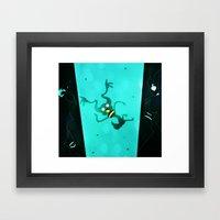 Floating Side Ways Up Framed Art Print
