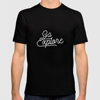 Go To Explore Mens Fitted Tee Black SMALL