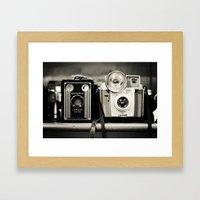 A Pair Of Kodak Brownies… Framed Art Print