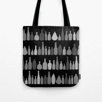 Bottles Black And White … Tote Bag