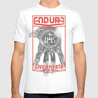 ENDURE IHS Mens Fitted Tee White SMALL
