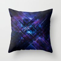 Cosmic Interference Throw Pillow