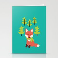 Forest Fox Stationery Cards