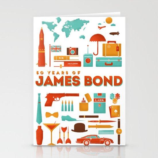 James Bond 50 Years  Stationery Card