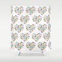 Hearts Heart Multiple Shower Curtain