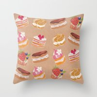 Pastries Throw Pillow