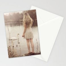 The swan fairy Stationery Cards