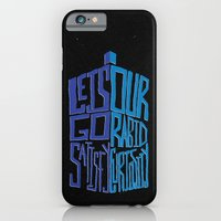 iPhone & iPod Case featuring Let's Go Satisfy Our Rabid Curiosity Tardis by Krist Norsworthy