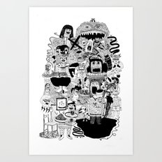KIDS DOOM Art Print