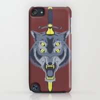 iPod Touch Cases featuring Wolf Head by Eyes Wide Awake