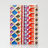 Watercolour Red Aztec Stationery Cards