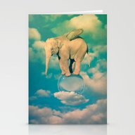 Stationery Cards featuring Elephant by Mauro Mondin