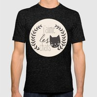 j'aime les chats Mens Fitted Tee Tri-Black SMALL