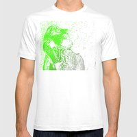 Flashy T-Rex  Mens Fitted Tee White SMALL
