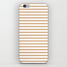 Horizontal Lines (Bronze/White) iPhone & iPod Skin