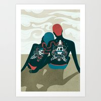 Love You / Love Me - Us … Art Print