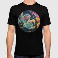 ROMANIA Mens Fitted Tee Black SMALL