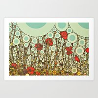 Pop Pop Poppies Abstract… Art Print