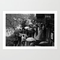 A Rainy Day Is Black And… Art Print