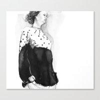 Fashion Illustration – Hana Cha S/S 2013 Canvas Print