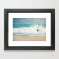 Beach - Ocean Blues Framed Art Print