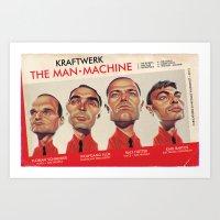 The Man-Machine Art Print