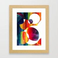 Abstract Rainbow  Framed Art Print