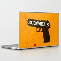 Laptop & iPad Skin featuring Buckwheats by Lee Grace Illustration